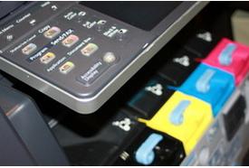 copier display screen with color toner