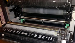 inside components of a copier