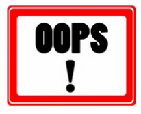 sign that says oops