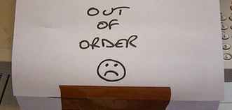paper that says out of order