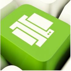 green printer button