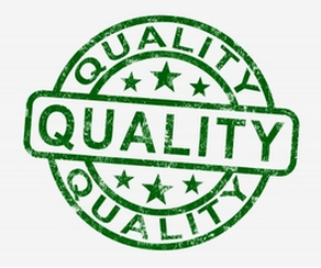 green stamp that says quality