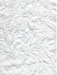wrinkled printer paper